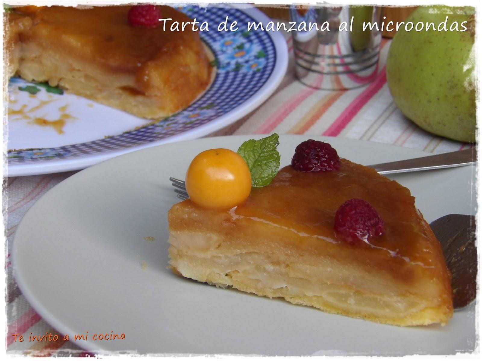 Te invito a mi cocina tarta de manzana al microondas for Cocina al microondas