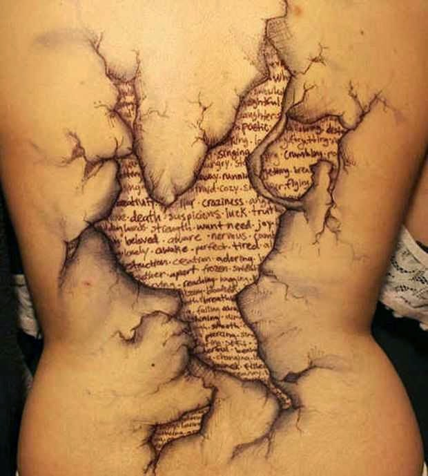 ♥ ♫ ♥  Awesome  Tattoo On Back  ♥ ♫ ♥