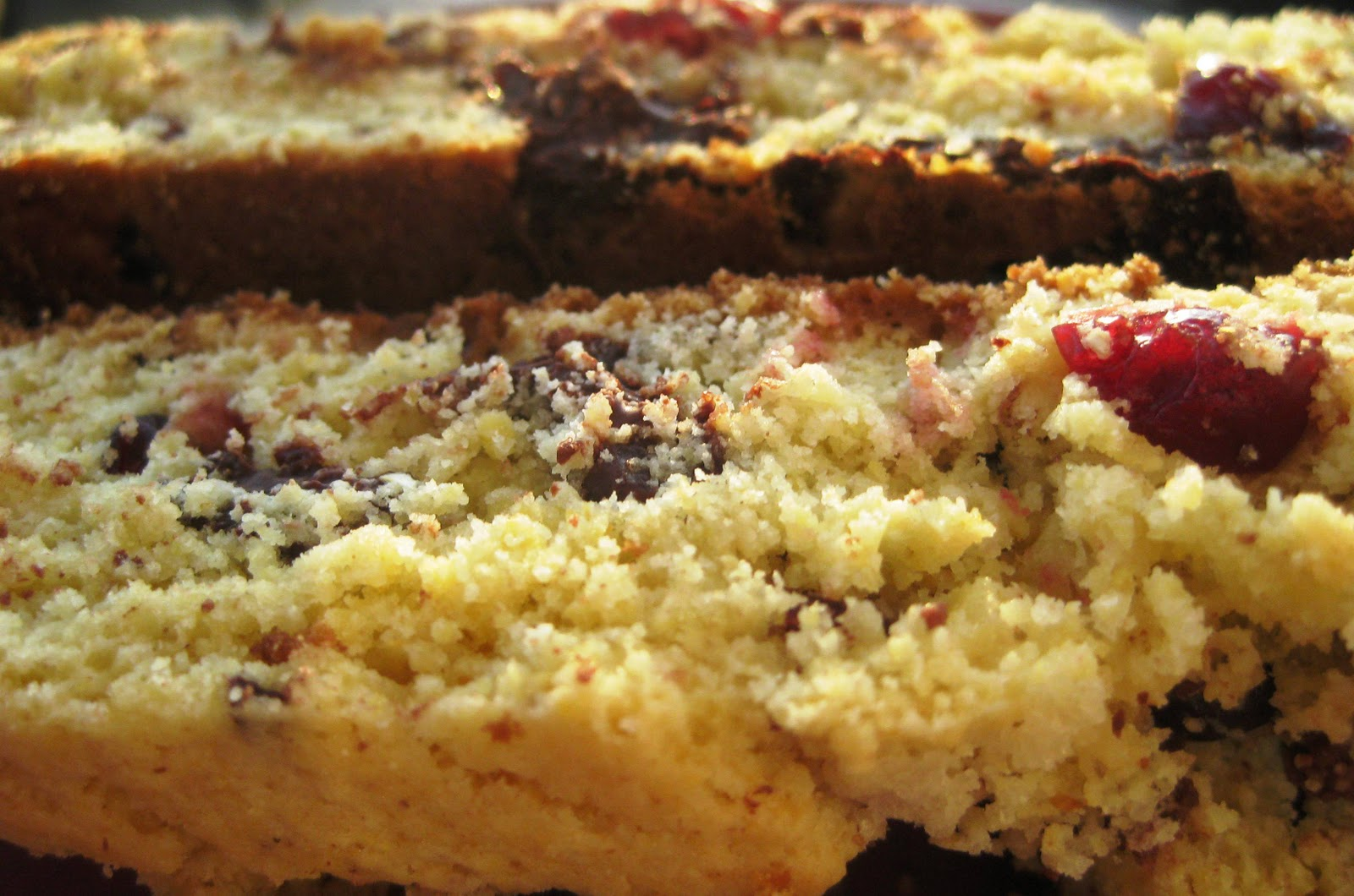 Cornmeal Biscotti with Dried Fruit and Chocolate