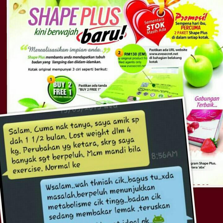 SHAPE PLUS 3 BOX & EVE FIBER 2 BOX HANYA RM330