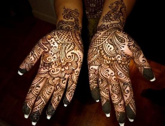 Mehndi For Front : Front hand mehndi design