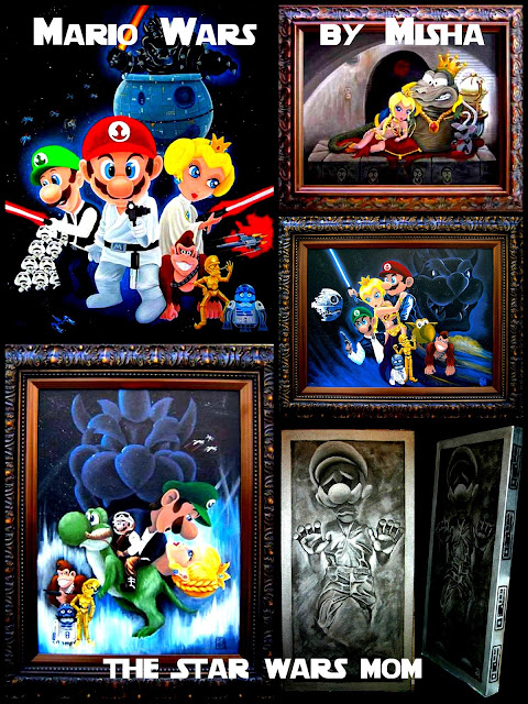 Mario Wars Art by Misha - Mario Bros Meets Star Wars