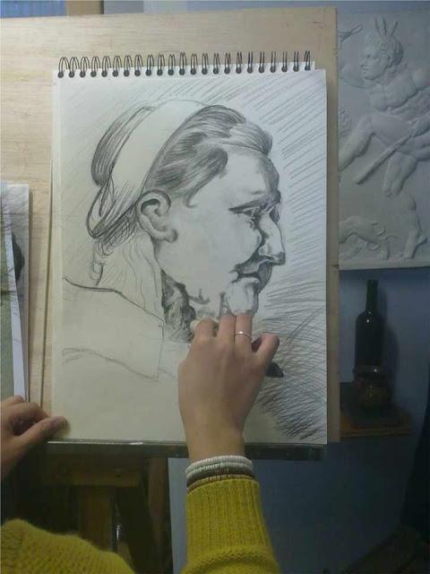 trabajo sobre un dibujo de rubens