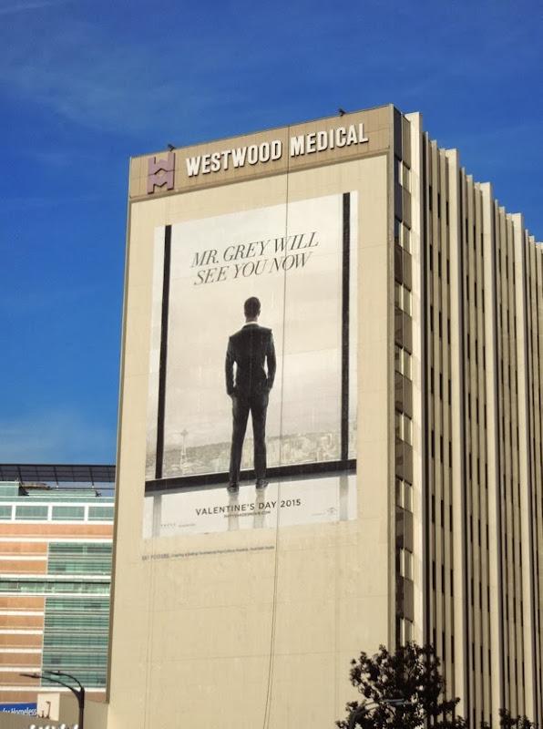Giant Fifty Shades of Grey movie teaser billboard