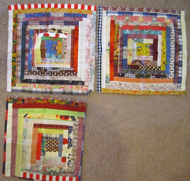 vintage log cabin blocks