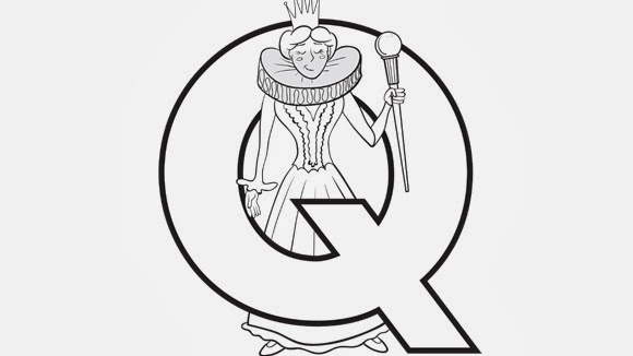 Printable Alphabet Coloring pages Queen