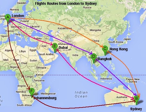 Flight deals sydney to london