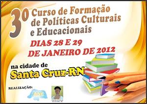 3º CURSO DE FORMAÇÃO DE POLÍTICAS CULTURAIS E EDUCACIONAIS...