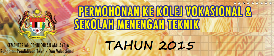 Kolej Vokasional Dan Sekolah Teknik 2015 Online