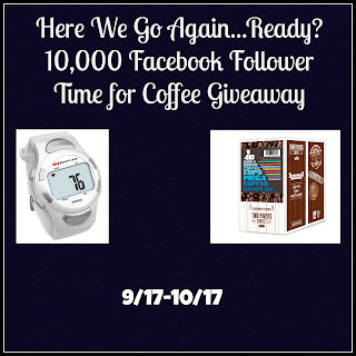 Enter the 10,000 Facebook Followers Time for Coffee Giveaway. Ends 10/17