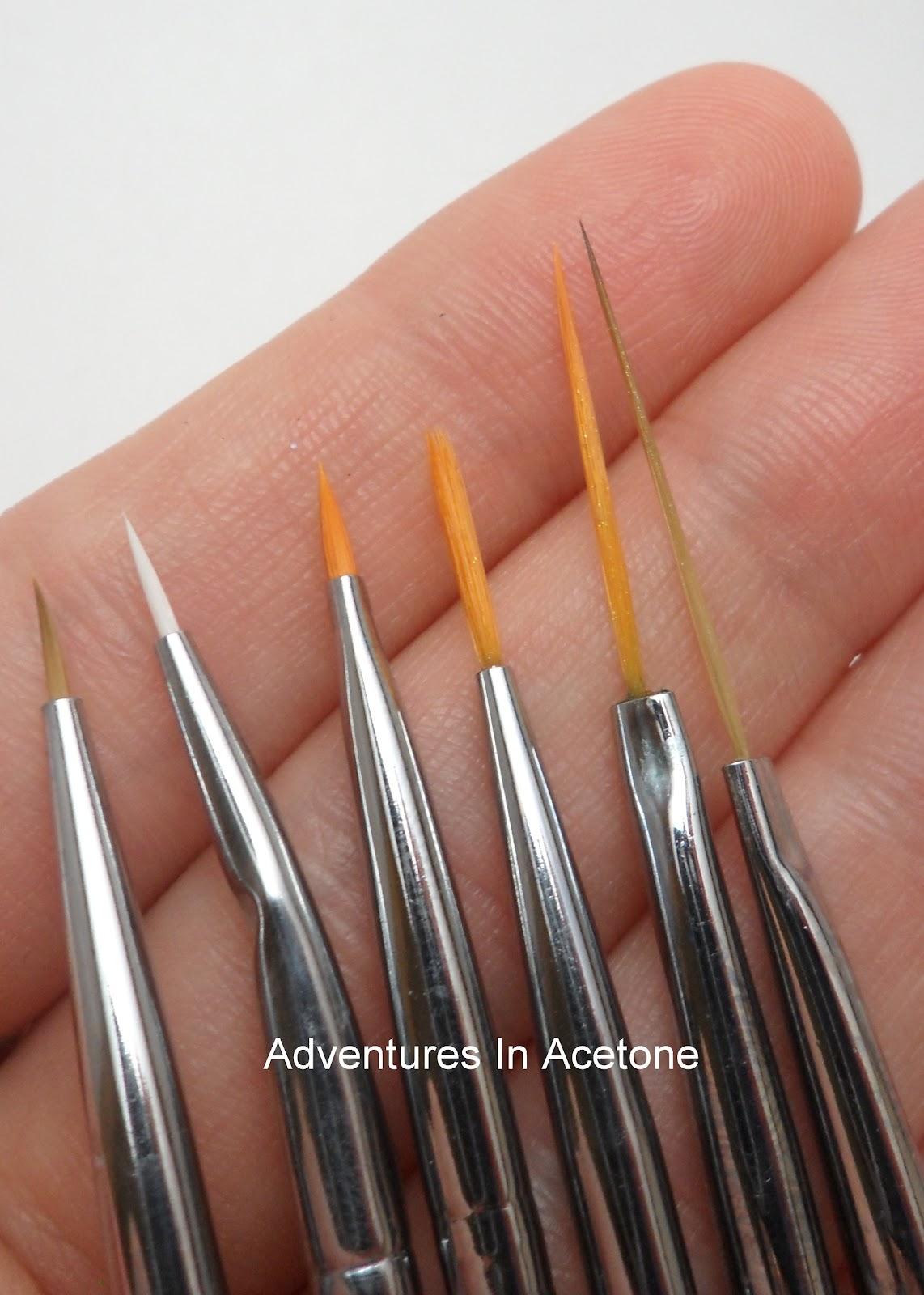 MASH Nail Art Brush Set Review! - Adventures In Acetone