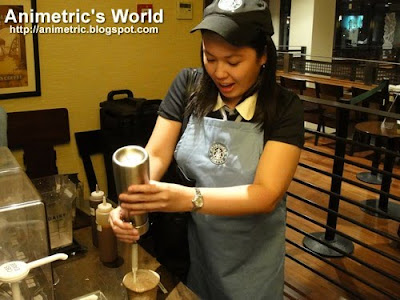 Animetric the Starbucks barista