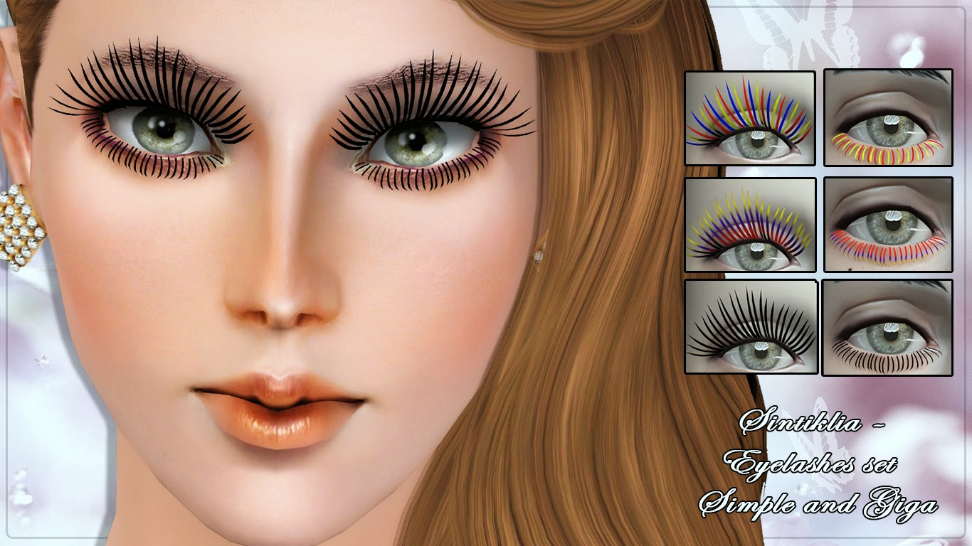 Big Set Of Eyelashes Few Collections For Sims 3