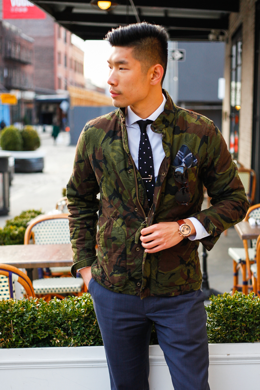 Levitate Style - J. Crew Camo Jacket, Filippo Loreti, Gents Mode
