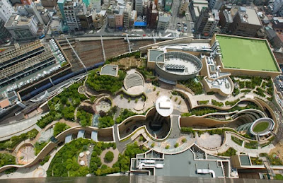 http://inhabitat.com/japans-namba-parks-has-an-8-level-roof-garden-with-waterfalls/