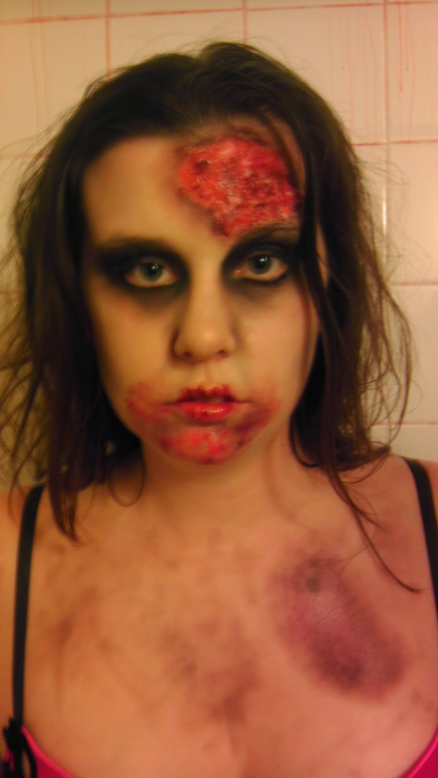 Displaying 17> Images For - Easy Simple Zombie Makeup...