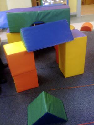 Teacher tom giant foam blocks for Foam blocks building construction