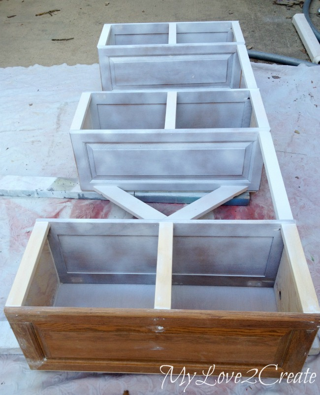caulk seams and paint desk base