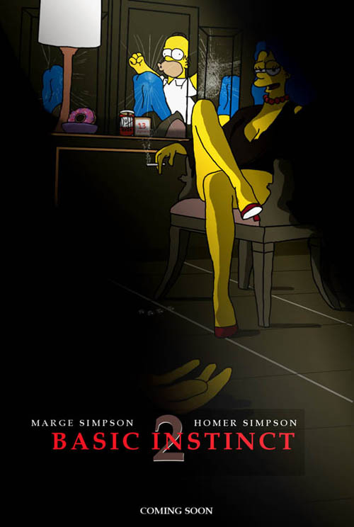 posters cinema simpsons - Basic Instinct 2