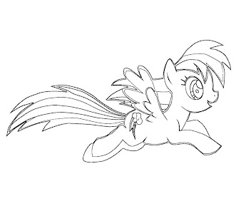 #6 Rainbow Dash Coloring Page