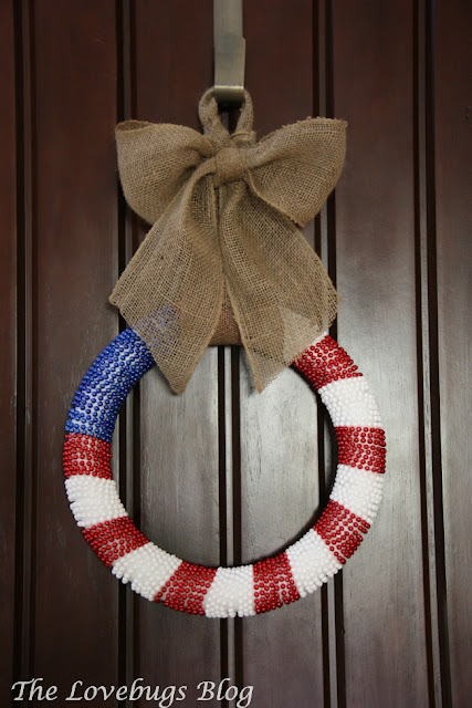 Easy DIY Patriotic 4th of July Wreath