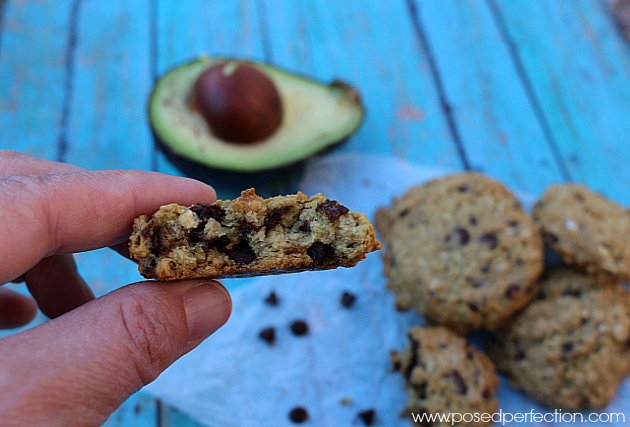 No one has to know the secret ingredient in these yummy Avocado Chocolate Chip Oatmeal Cookies.