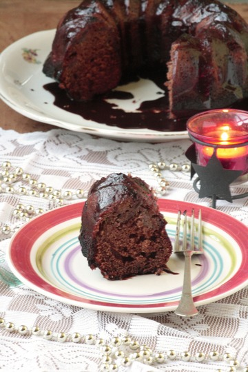 Шоколадный кекс с инжиром