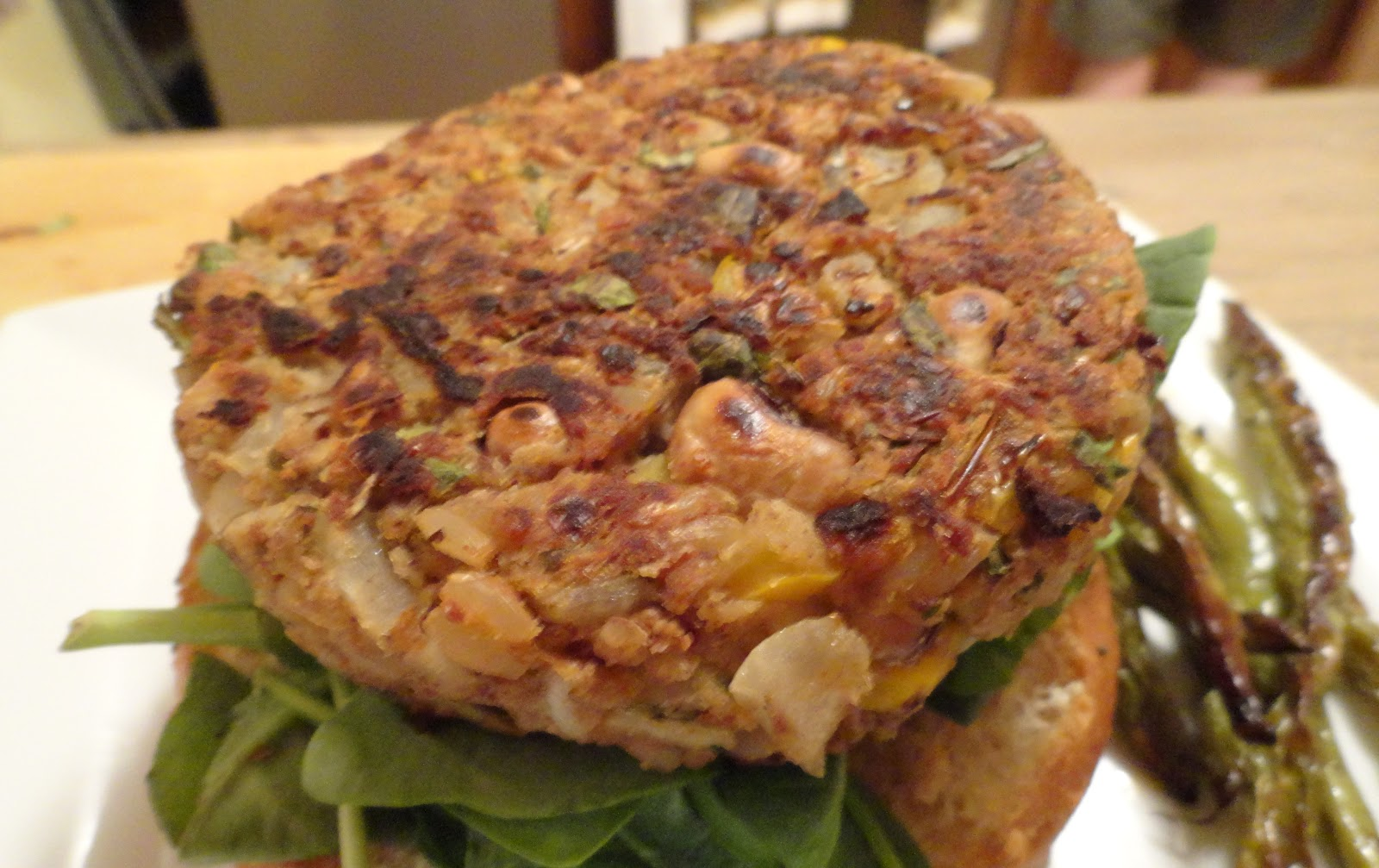 "The ""V"" Word: Black-Eyed Pea Burgers with Mississippi Comeback Sauce"