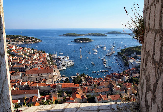 View of Hvar City from Španjola Fortress, Croatia