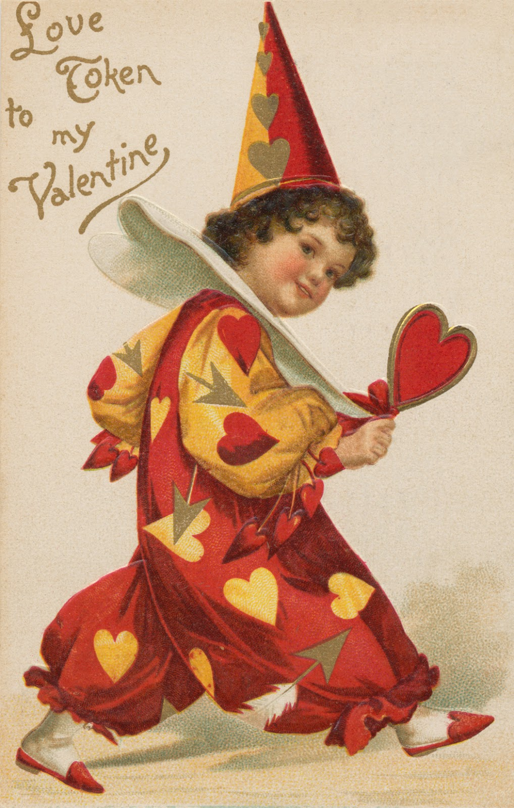 i have a gorgeous antique postcard that you might like to download here it is sweet huh and a few other antique valentines postcards here that you