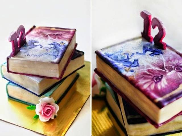 Birthday Books Cake