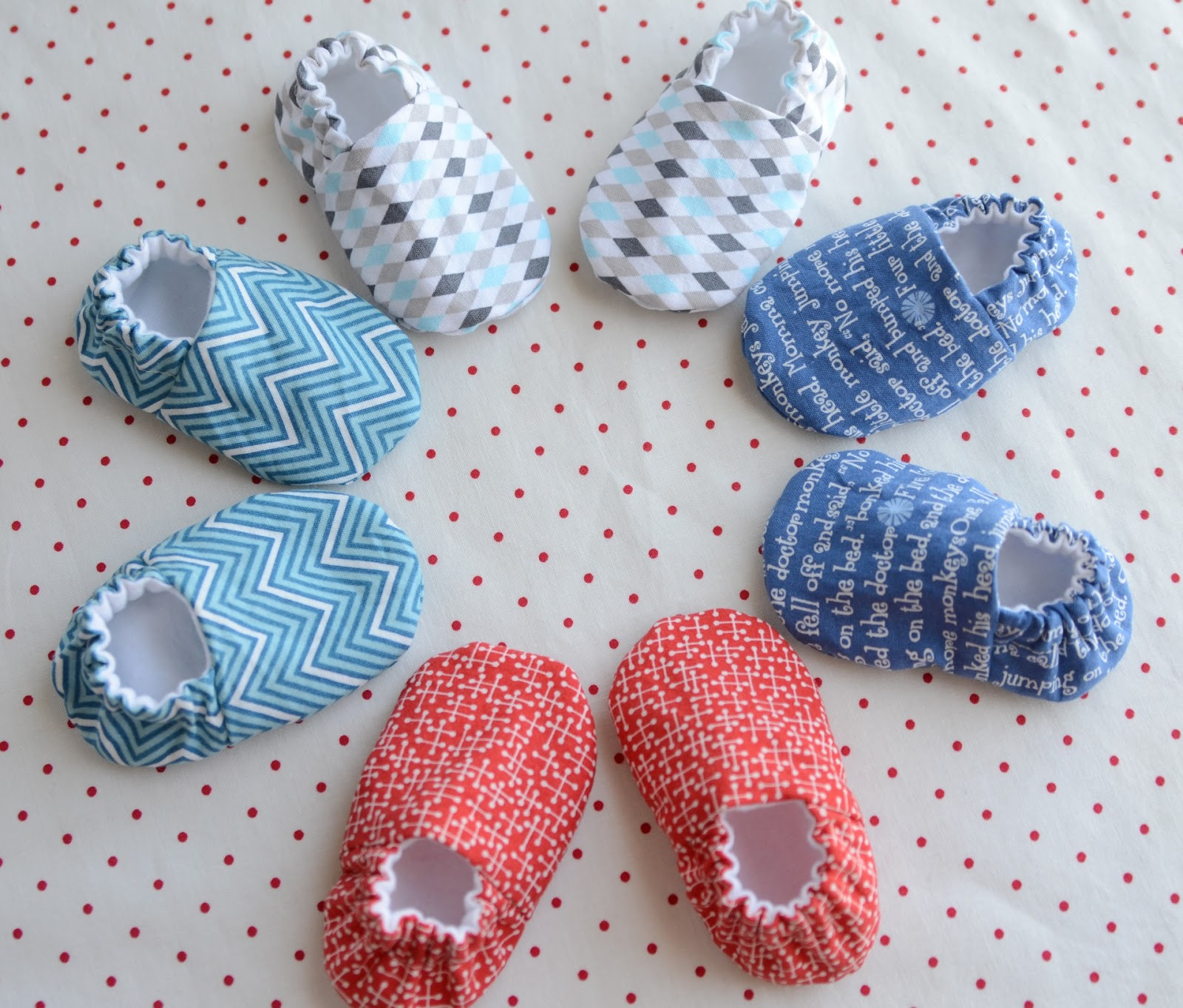 Hyacinth Quilt Designs making baby shoes