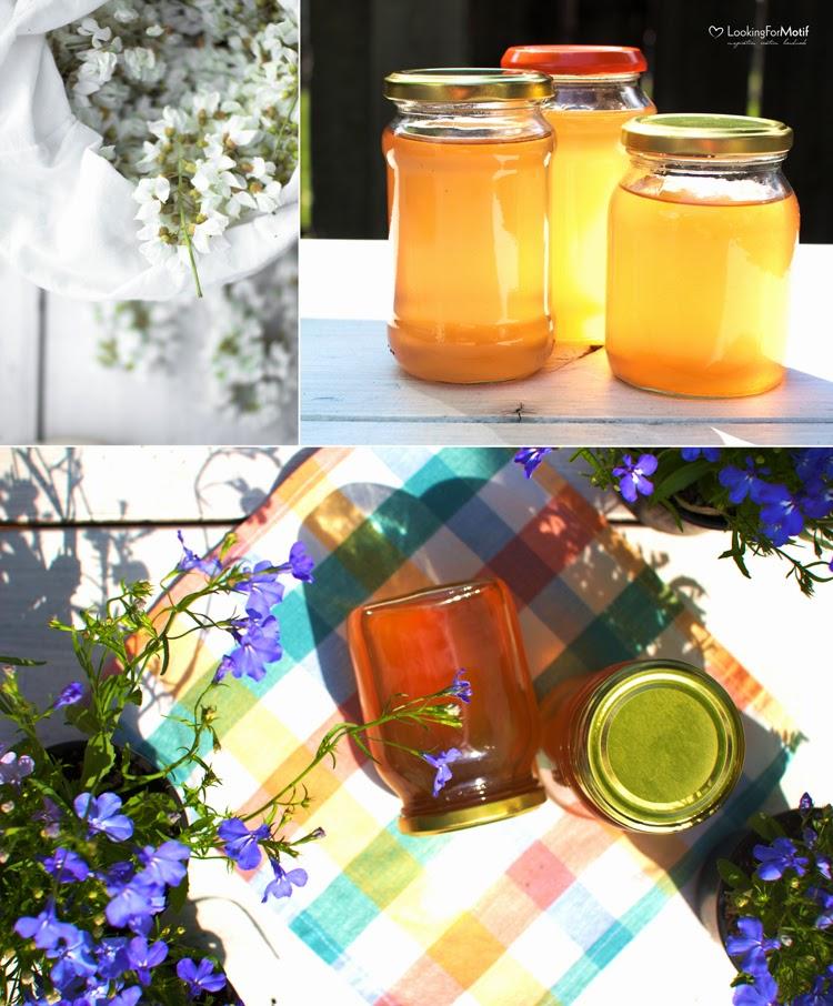 syrop kwaitów akacji, syrop do herbaty, DIY, kwiaty akacji