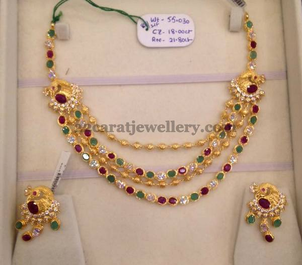 55 Grams Four Layer Necklace