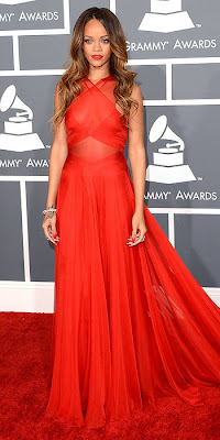Grammys, Rihanna, Azzedine Alaia, red carpet, fashion