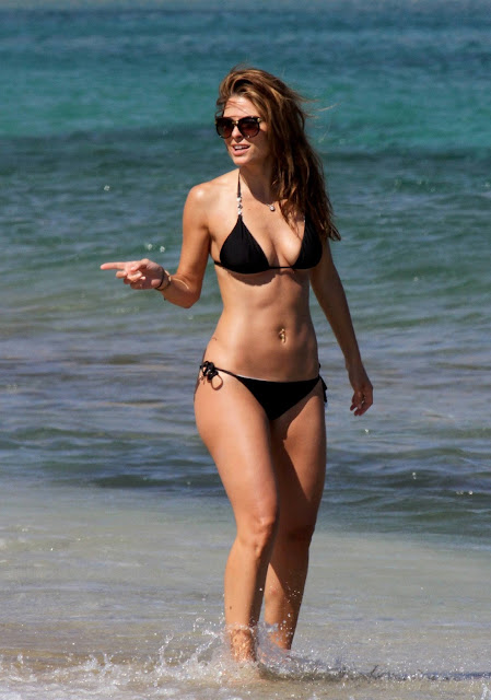 Maria Menounos Hot Beach Body Bikini Candids In Greece