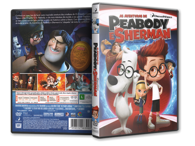 Capa DVD As Aventuras De Peabody E Sherman