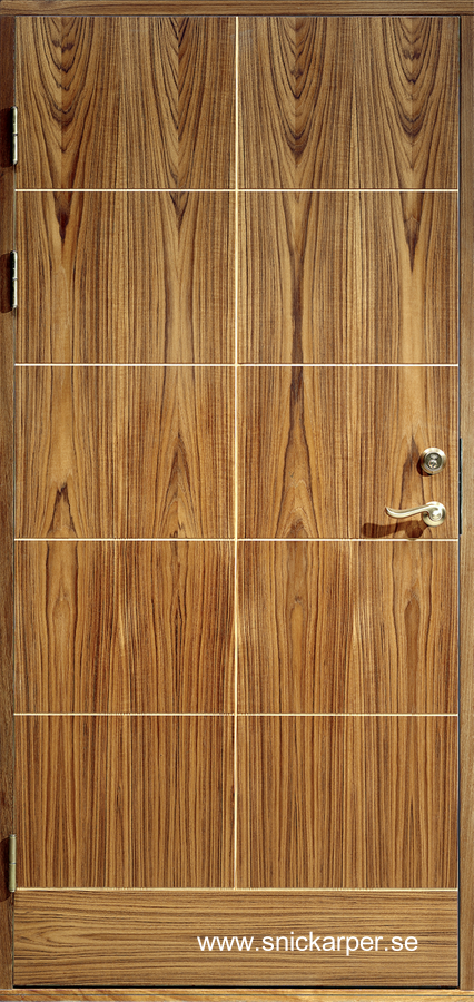 Puerta exterior moderna de madera de producción sueca