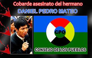 Asesinan a Daniel Pedro Mateo