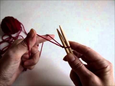Hvordan  legge opp i strikking.