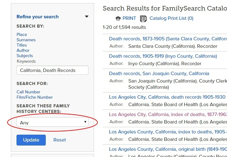 Ancestry Island More Ways To Get Online Death Records In California