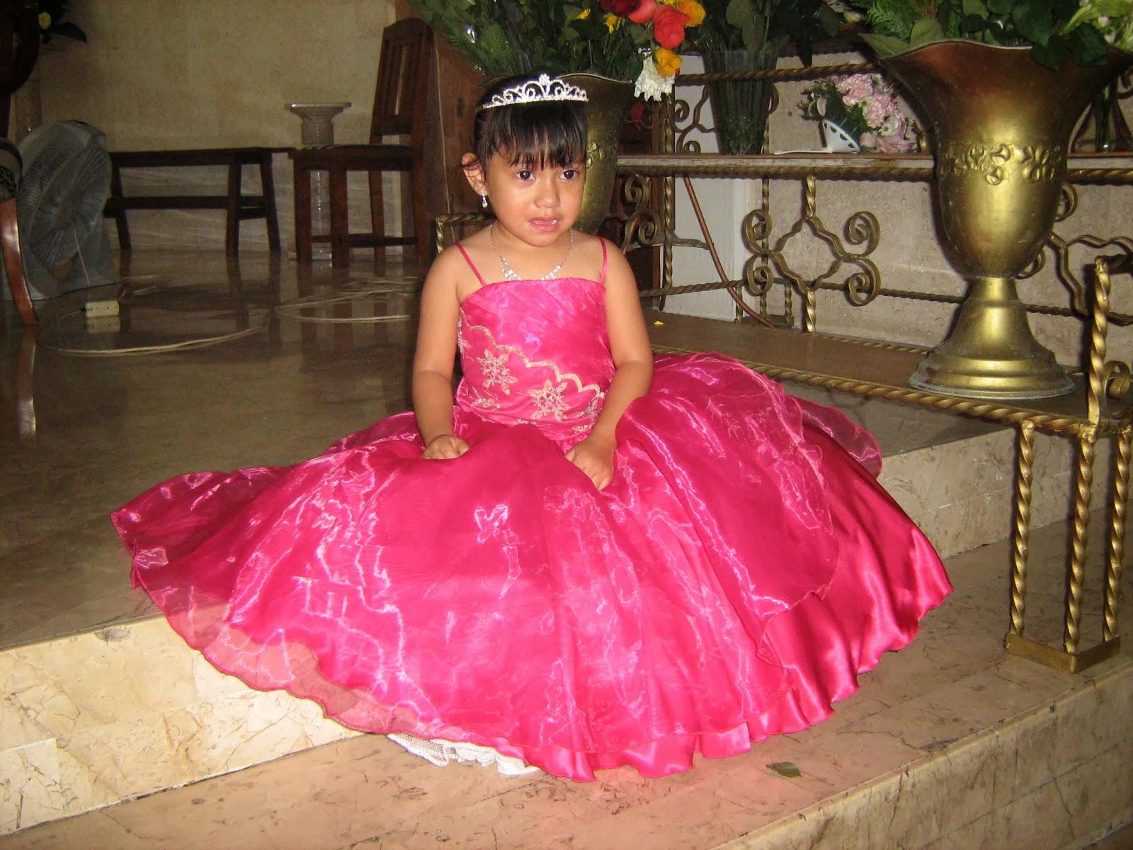 ALTA COSTURA: vestido de presentacion para niña en color rosa con ...