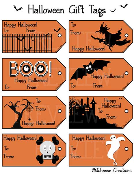 Johnson Creations: Halloween Gift Tags