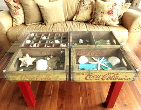 soda crate table