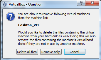 how to delete gurp off of virtualbox