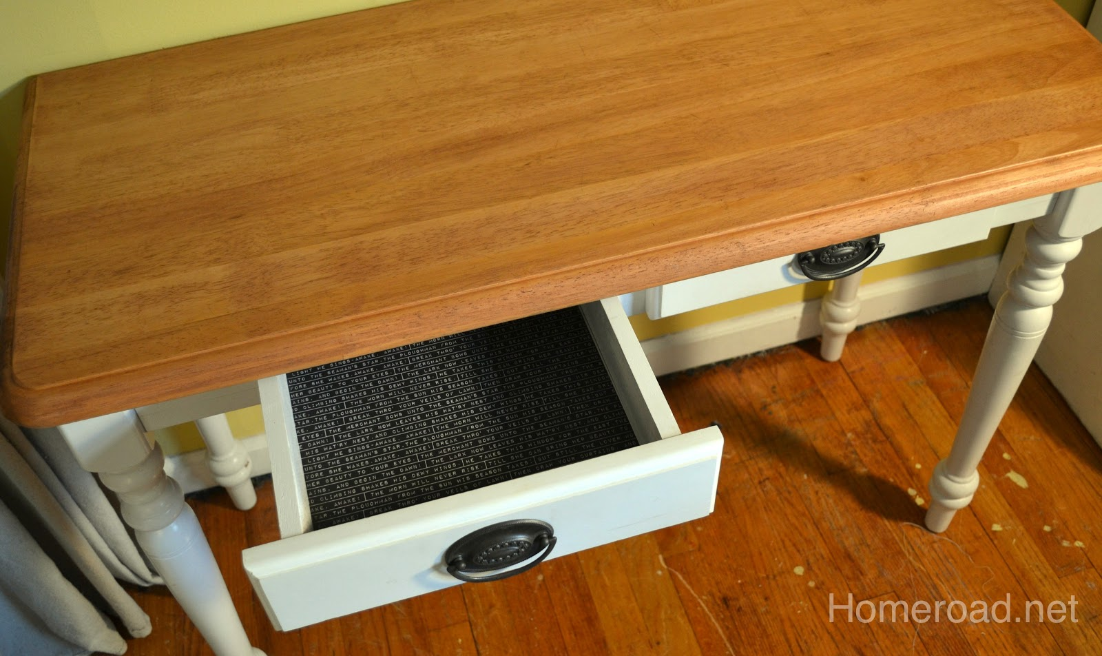 Diy re do sewing table homeroad for Diy cast net