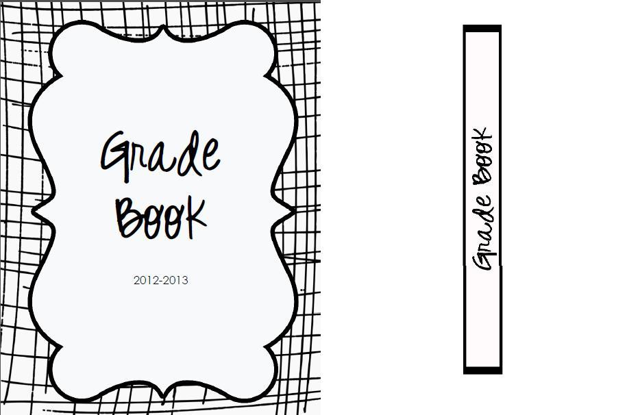 Grade Book Cover Printable ~ The real teachr creating a grade book