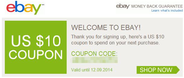 Coupon ebay
