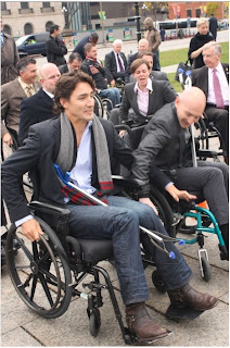 Justin Trudeau M.P. , photo opportunity on Parliament Hill