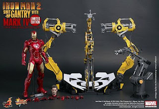 Hot Toys 1/6 Action Figure Iron Man 2 - Suit-Up Gantry with Mark IV